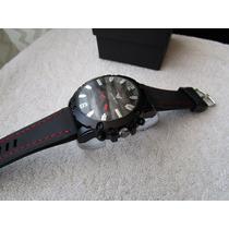 Hermoso Reloj Emporio Armani Negro / Rojo Subasta 1 Peso