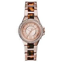 Reloj Michael Kors Pettite Camille Acero Oro Rosado Mk4289