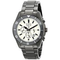 Reloj Bulova Marine Star Acero Color Pólvora Garantia 98b205