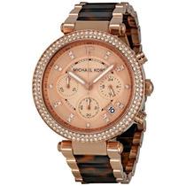 Reloj Dama Michael Kors Parker Acero Color Oro Rosado Mk5538