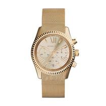 Reloj Michael Kors Lexington Dorado Acero Mk5938 Garantia