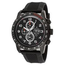 Reloj Bulova Marine Star Acero Caucho Negro Crono 98c112