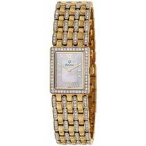 Reloj Bulova Bracalete Dorado Diamantes Acero 98l159