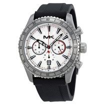 Reloj Michael Kors Richardson Acero, Caucho Negro Mk8353