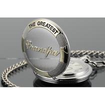 Vintage Antique Silver Grandpa Steampunk Quartz Necklace