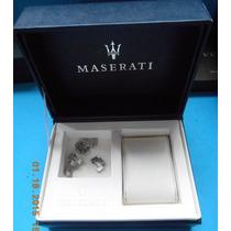 Estuche Original P/reloj Maserati C/ Eslabones Fotos Reales