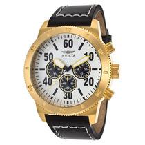 Reloj Invicta Speciality Piel Negra Acero Color Oro 16756