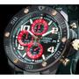 Reloj Cronografo 100mts Pavonado C/oro 18k 52mm Caballero