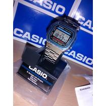 Reloj Clasico Casio Plata Plateado A168 Vintage Moda Retro