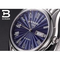 Reloj Hombre Binger Acero Inox.,suizo Automático Elegante