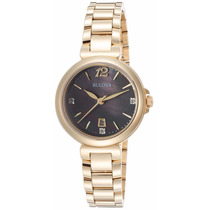 Reloj Bulova Diamond Gallery Tono Oro Mujer 97p107