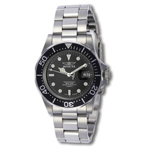 Reloj Invicta Mako Swiss Acero Inoxidable, Negro, 9307