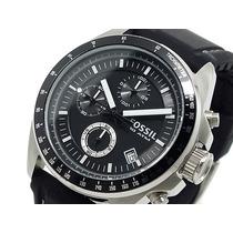 Reloj Crono Fossil Caballero Negro Nuevo (modelo Ch2573)