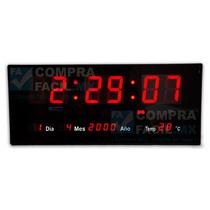 Reloj Led Digital De Pared Numeros Gigantes - Cfmx
