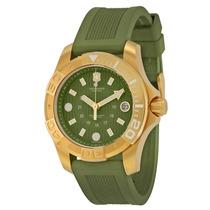 Reloj Victorinox Dive Master Dorado Verde Mujer 241557