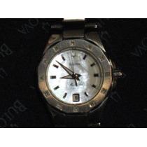 Reloj Bulova Mujer Con 12 Ptos De Diamantes En Caratula Vbf