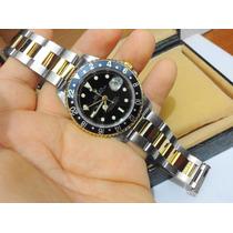 Rolex Gmt Master Ii Acero Oro 18k Zafiro Estuche Como Nuevo
