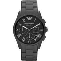 Reloj Emporio Armani Cerámica Negra Cronógrafo Ar1457