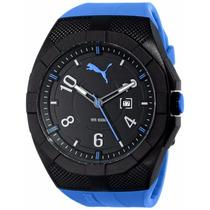 Reloj Puma Pu103501001 Iconic, Azul, Deportivo, Tiempoydatos