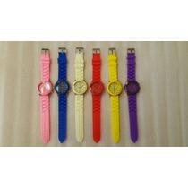 Reloj De Pulsera Silicón Analógico De Colores Moda Casual
