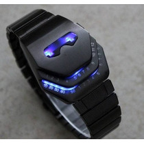 Reloj Led Metalico Tipo Iron Man Mark Ii Con Luces Led