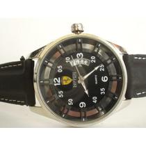 Deportivo Y Moderno Reloj Ferrari Con Calendario, Caballero