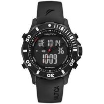 Reloj Nautica Analogo Digital Caucho Wr100m Nuevo Precioso !