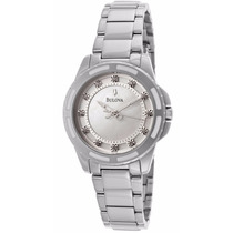 Reloj Bulova Diamond Collection Acero Inoxidable 96p144
