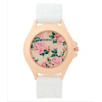 Reloj Para Dama Color Blanco Floral Marca Aeropostale Estilo