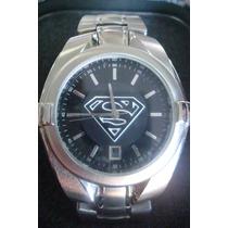 Superman Reloj Acero Fossil Hombre Dc Warner Comic Batman