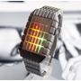Reloj Satelite Led Colores Lujo Digital Binario Moderno Luz