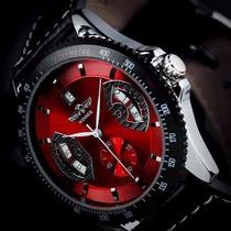 Reloj Winner Mecanico Automatico Fechador Cristal Mineral