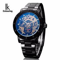 Reloj Automatico De Lujo Ik Colouring Acero Inoxidable