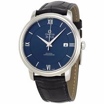 Reloj Omega Deville Manual Piel Negra Azul 42413402003001