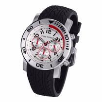 Reloj Time Force Hombre Negro Caucho Crono Tf3198m02