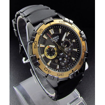 Relojes Casio Estandar Mtd-1069b Dorado Analogo 3 Esferas