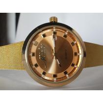Hermoso Reloj Mido Para Caballero O Unisex, Con Fechador