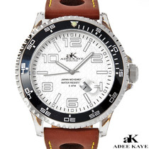 Moderno Reloj Adee Kaye Hombre, Acero Y Piel, Envio $0 Rgl