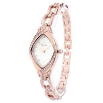 Reloj De Pulsera De Cuarzo C Y Pedrería Rose Y Blanco