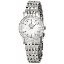 Reloj Bulova Mother Of Pearl Diamantes Mujer Acero 96r164