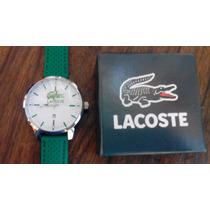 Reloj Lacoste De Hombre, De Caucho Verde Antibacterial