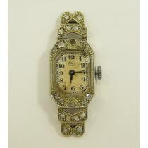 Reloj Ebel Modelo Antiguo Art- Deco Para Dama De Oro Blanco