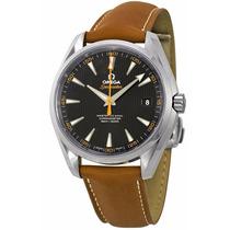 Reloj Omega Seamaster Automático Azul Piel 23112422101002