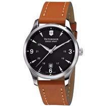 Reloj Victorinox Alliance Acero Inoxidable Piel Café 241475