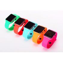 Reloj Cuadrado Espejo Digital Led Touch Colores!