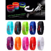Reloj Led Touch Digital Silicon Ultra Delgado Colores!