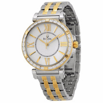 Reloj Bulova Diamond Case Acoer Dorado Mujer 98r167
