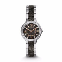 Virginia Stainless Steel And Acetate Watch-fossil