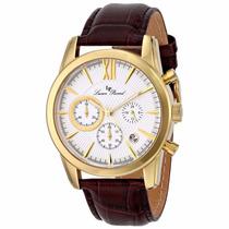 Reloj Lucien Piccard Mulhacen Dorado Piel Café 12356-yg-02s