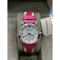 Reloj Burberry Mujer Piel Modelo Bu9149 Color Rosa 100%orig